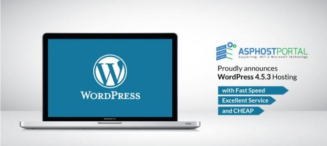 ASPHostPortal.com Announces WordPress 4.5.3 Hosting Solution