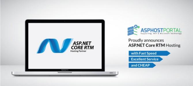 ASPHostPortal.com Announces ASP.NET Core RTM Hosting Solution