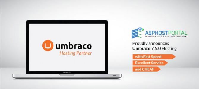 ASPHostPortal.com Announces Umbraco 7.5.0 Hosting Solution