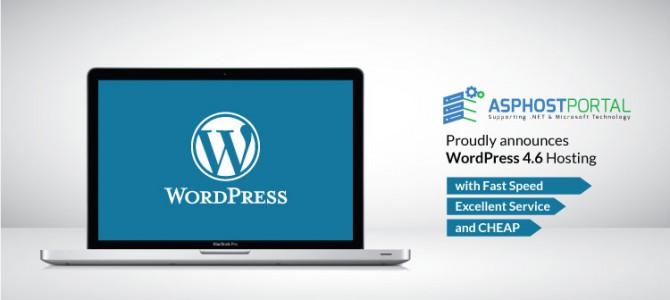 ASPHostPortal.com Announces WordPress 4.6 Hosting Solution