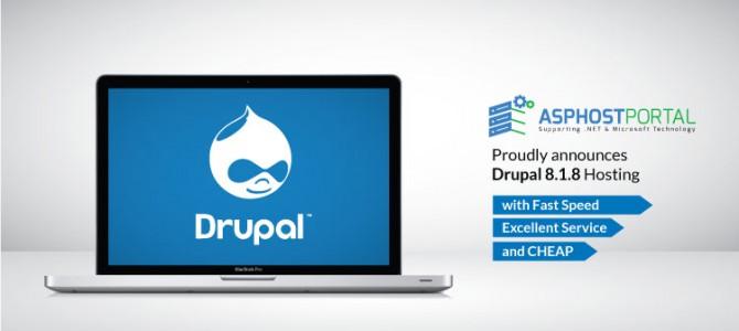 ASPHostPortal.com Announces Drupal 8.1.8 Hosting Solution