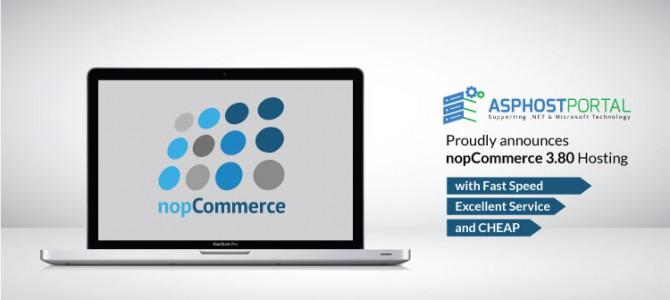 ASPHostPortal.com Announces nopCommerce 3.80 Hosting Solution